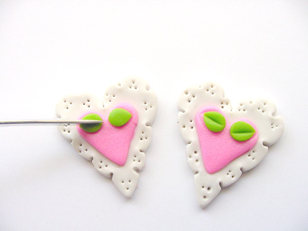 Valentine's Day Clay Hearts Step Six, 2