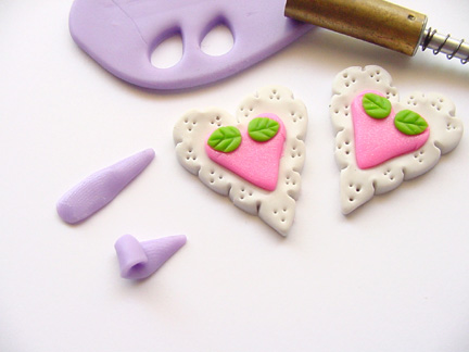 Valentine's Day Clay Hearts Step 7