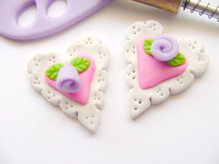 Valentine's Day Clay Hearts Step 7, 2