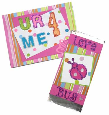 Valentine Card and Chocolate Wrapper