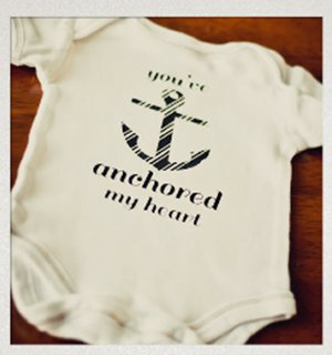 Anchored Heart Onesie