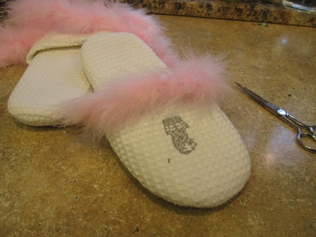 Feather Slippers