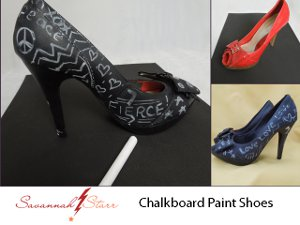 Chalkboard Painted Shoes