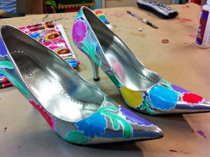 painted pretty pumps