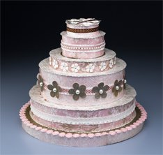 Pink and White Cake Centerpiece