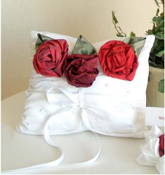 Sweetheart Rose Collection: Ring Bearer Pillow