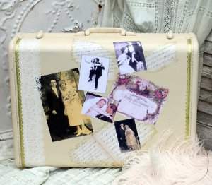 wedding card suitcase
