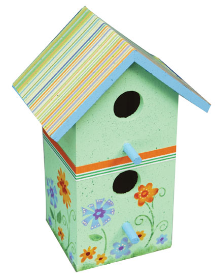 Painted Birdhouse Indoor Decor