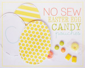 Egg Shaped Candy Pouches