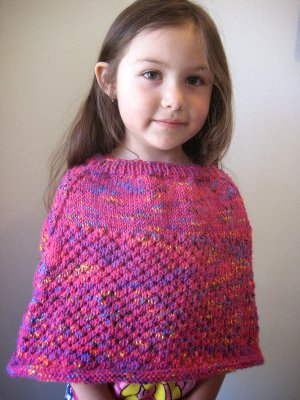 Cellular Stitch Kids' Poncho