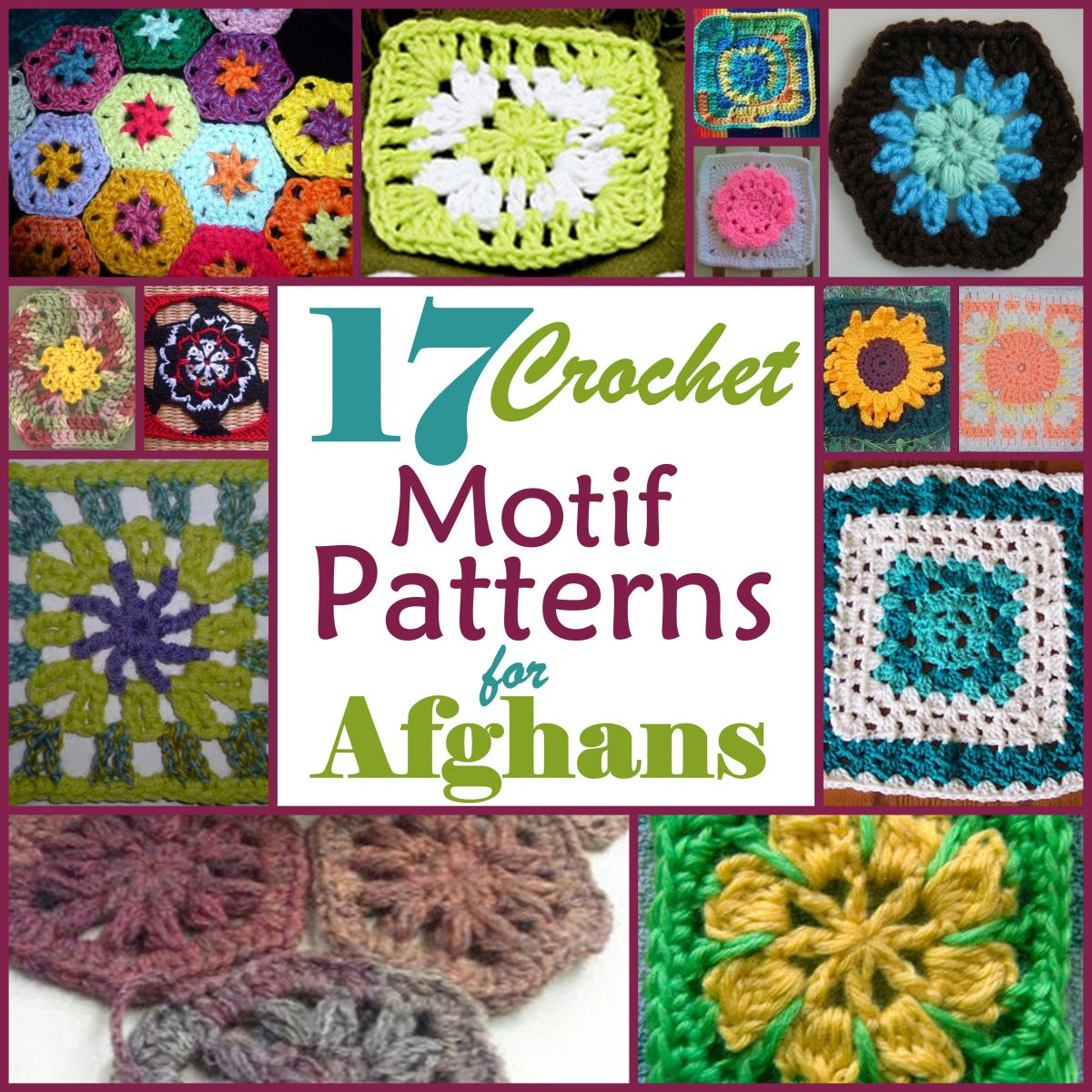 17 motif crochet patterns for afghans one bankloansurffo Image collections