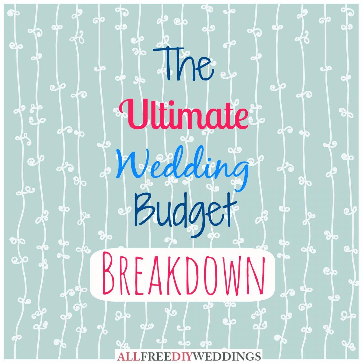 Wedding planning wedding budget breakdown allfreediyweddings diy wedding planning wedding budget breakdown junglespirit Choice Image