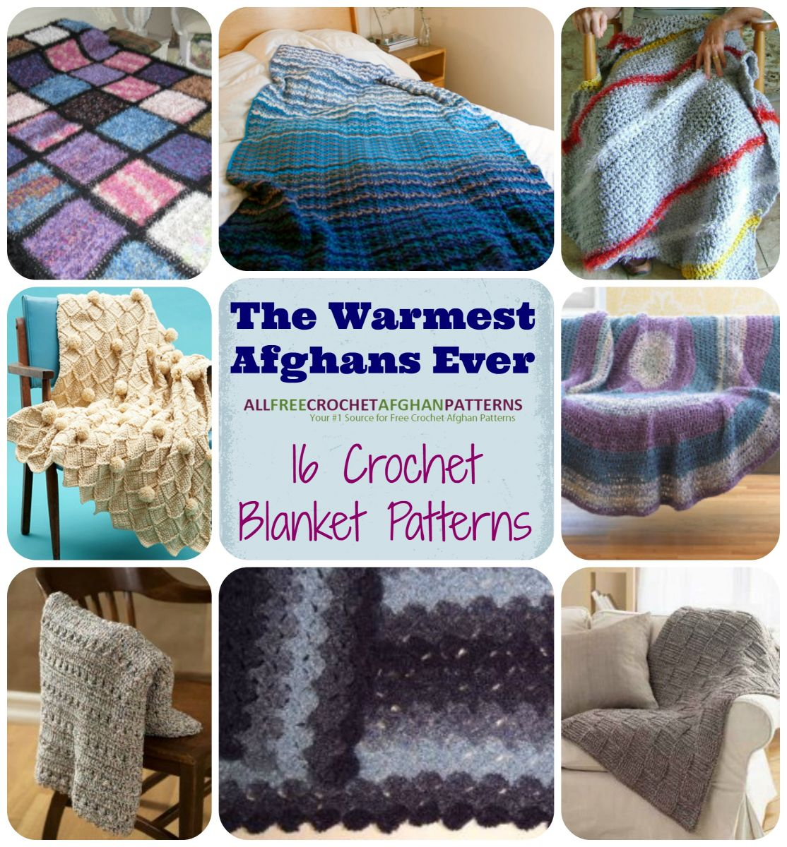 The warmest afghans ever 16 crochet blanket patterns extra warm crochet afghan patterns super cozy crochet throws and lapghans bankloansurffo Gallery
