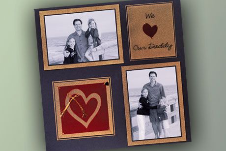 We Love Dad Scrapbook Page